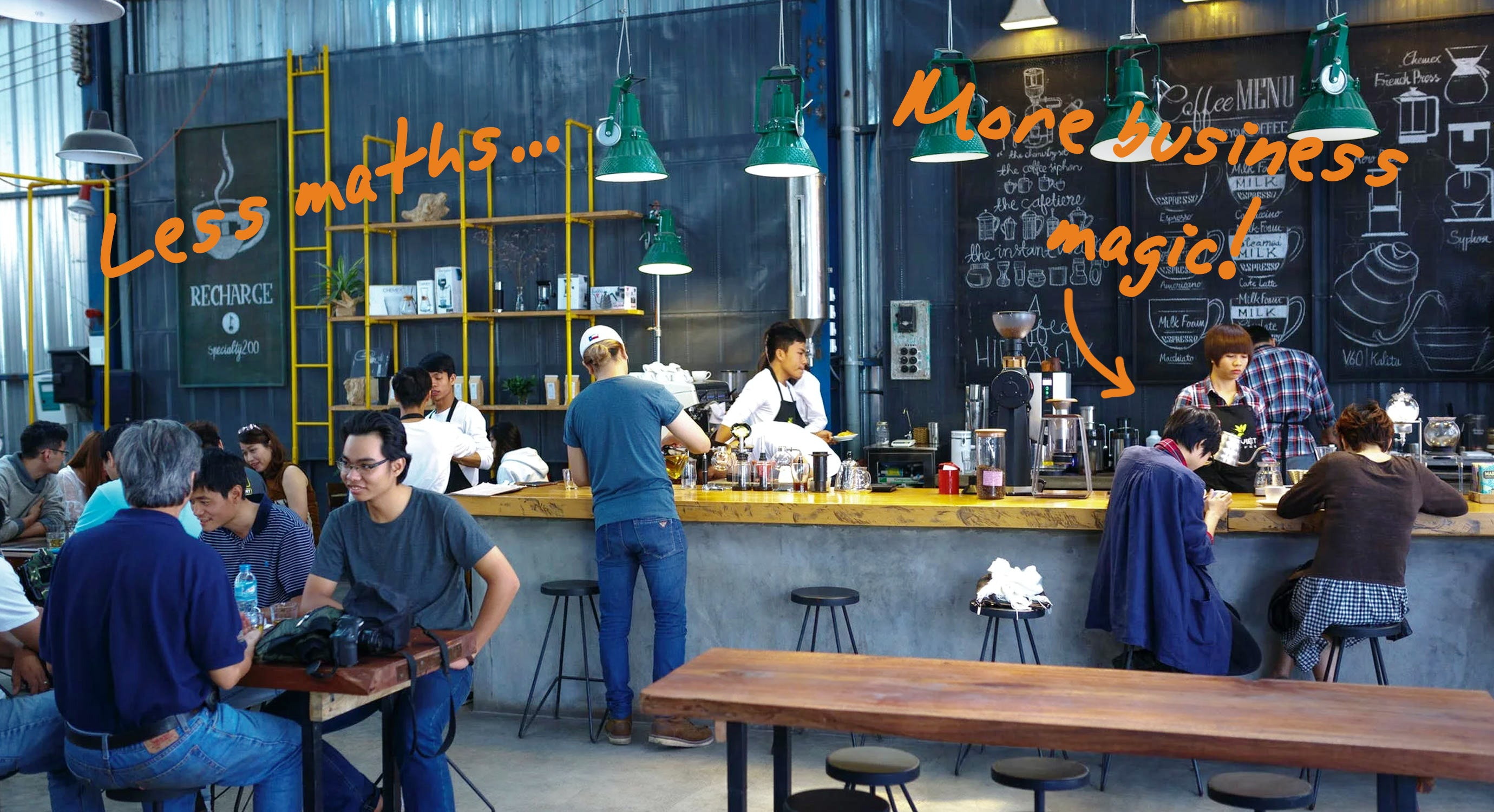 a busy cafe