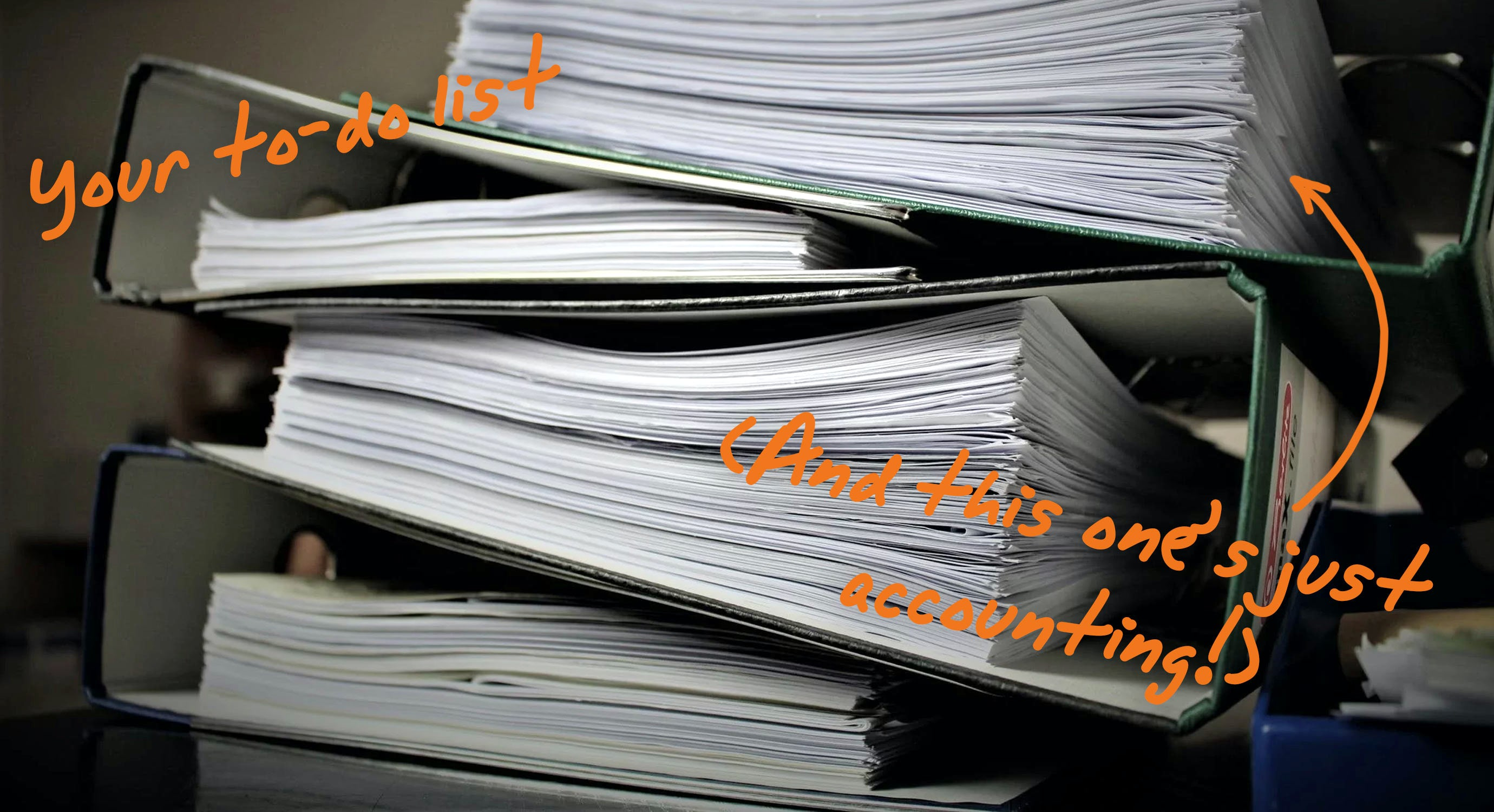 pile of work
