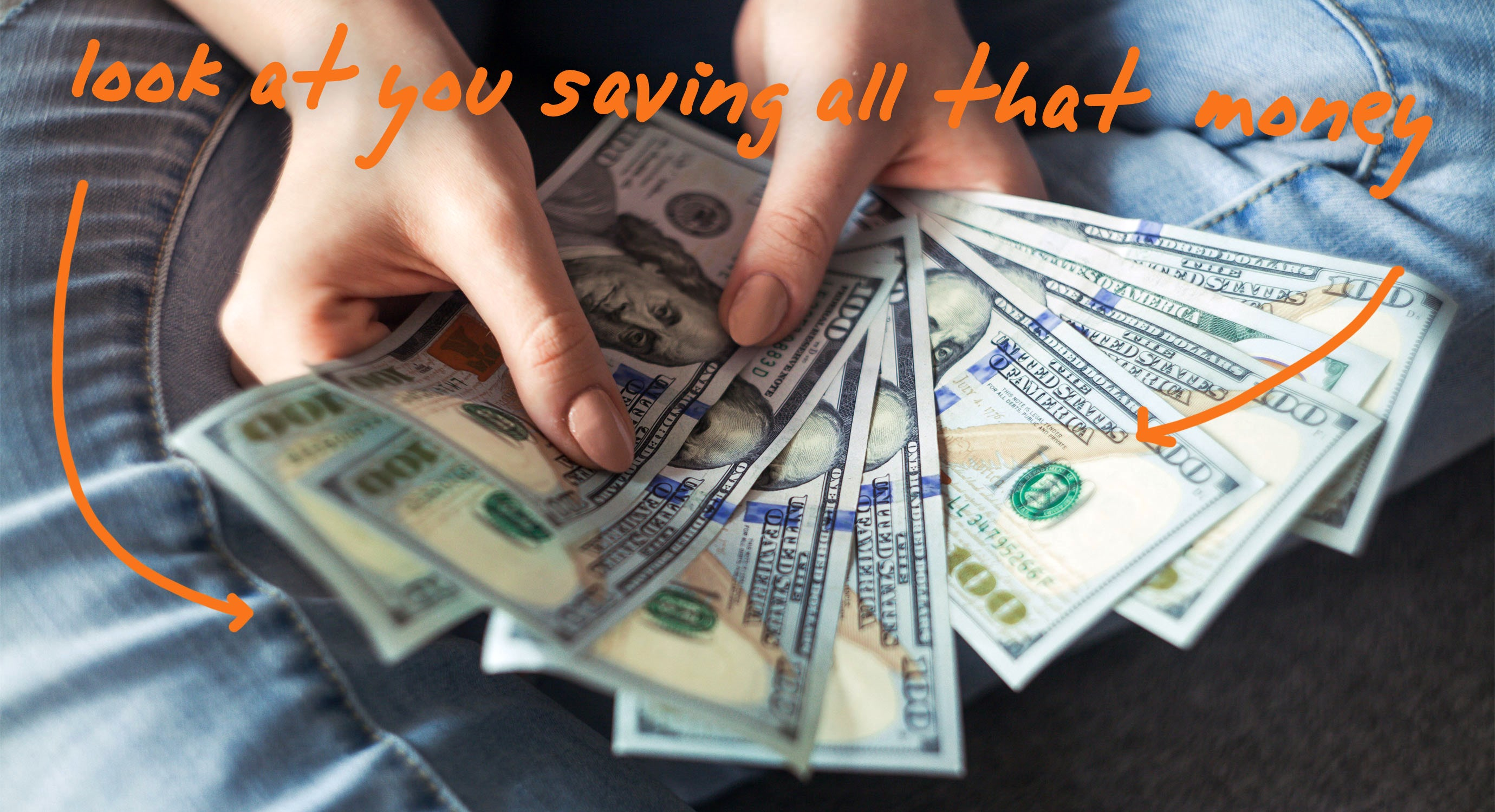 Look it's You Saving Money