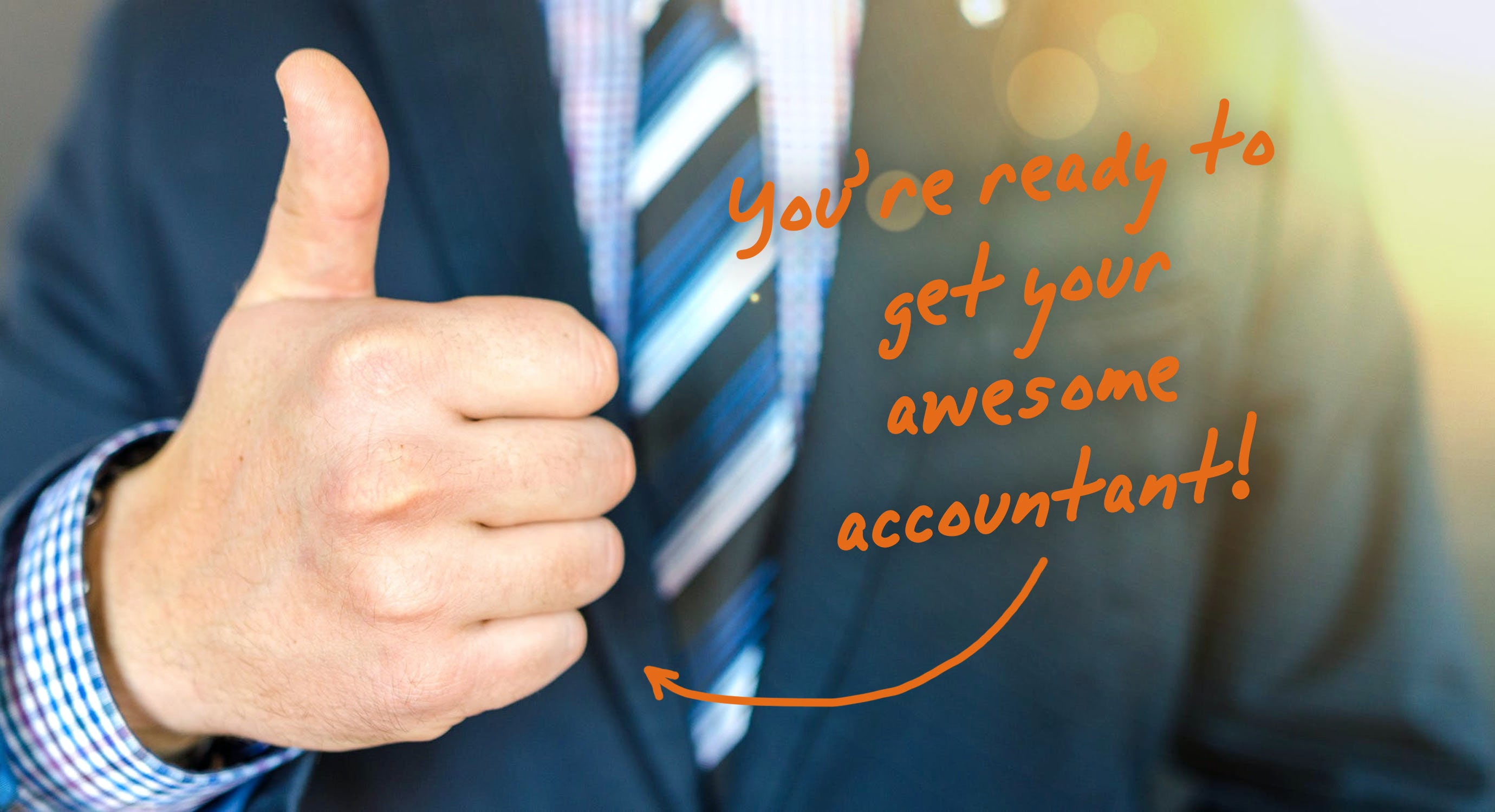 accountant giving a thumbs up