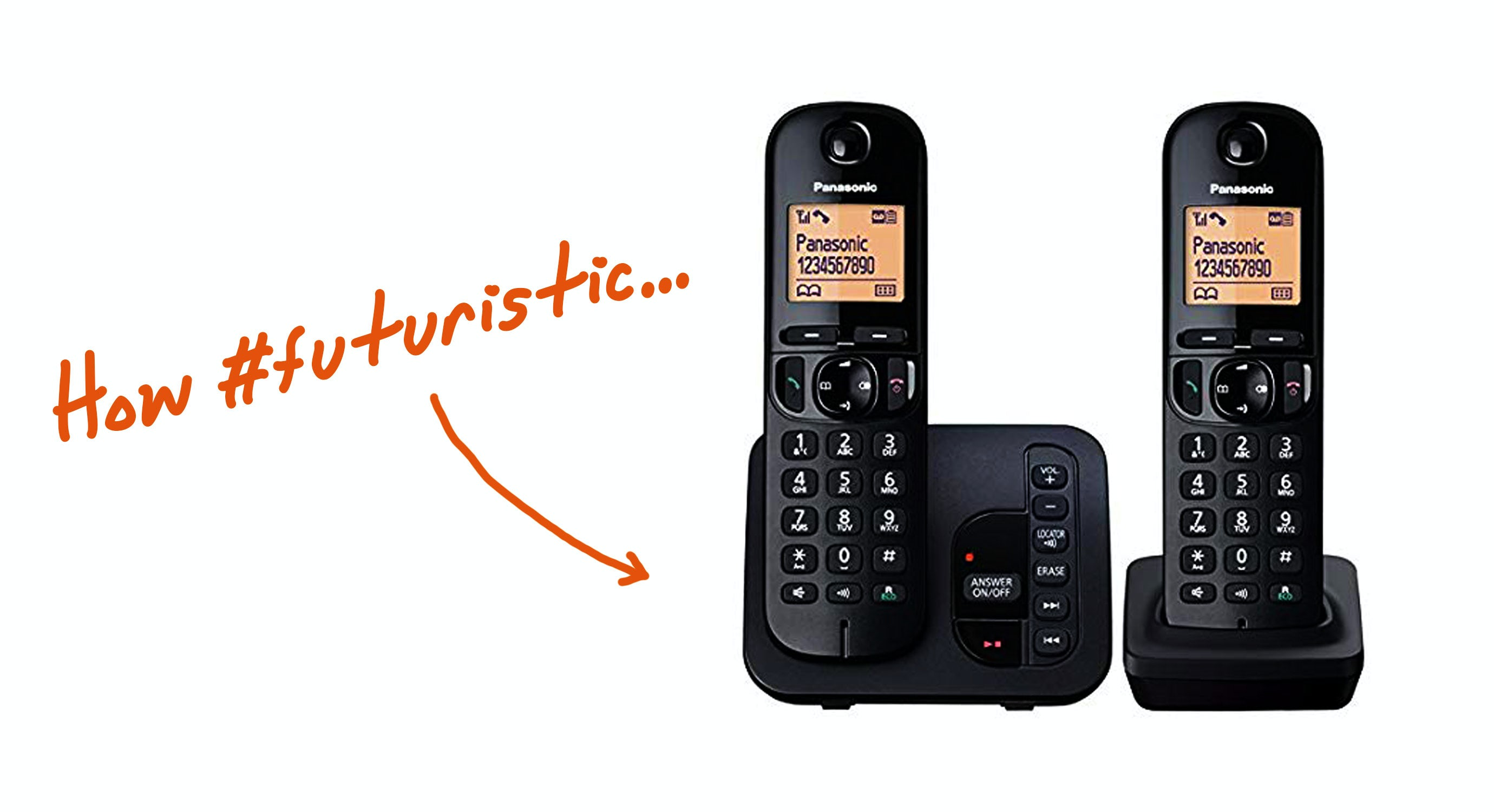 Panasonic KX-TGC222EB Digital Cordless Phone