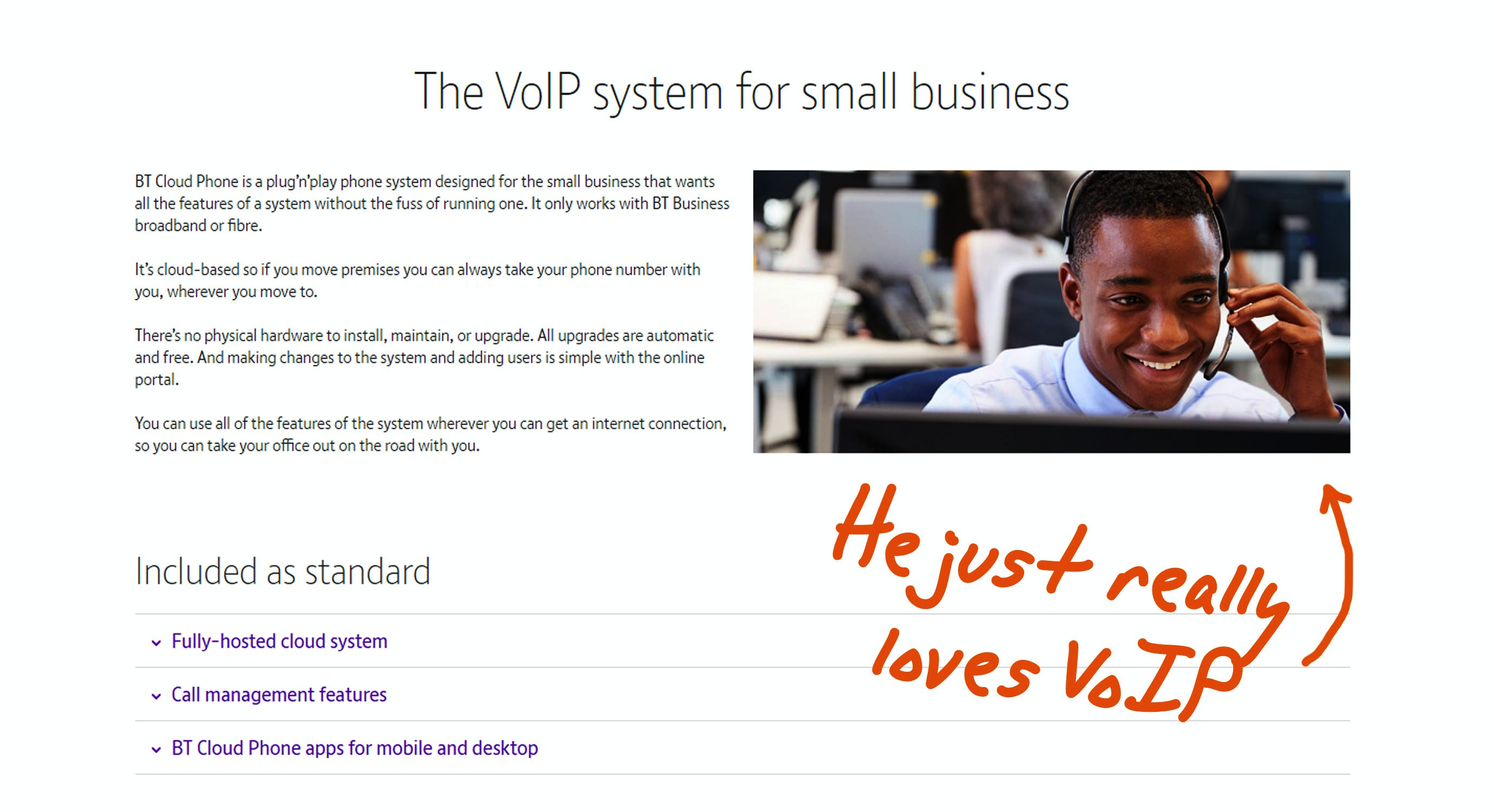 voip product page