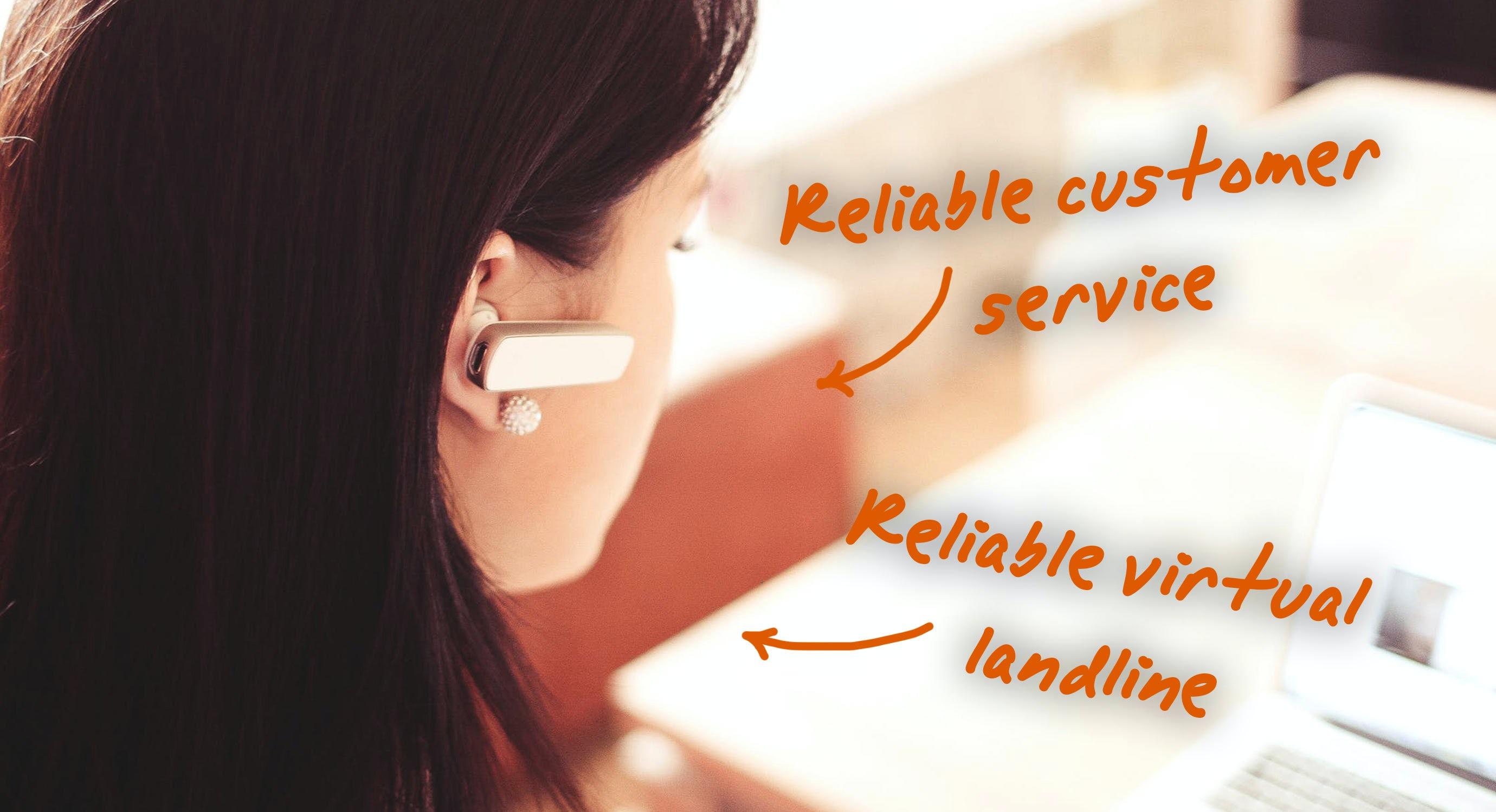 customer service using virtual number