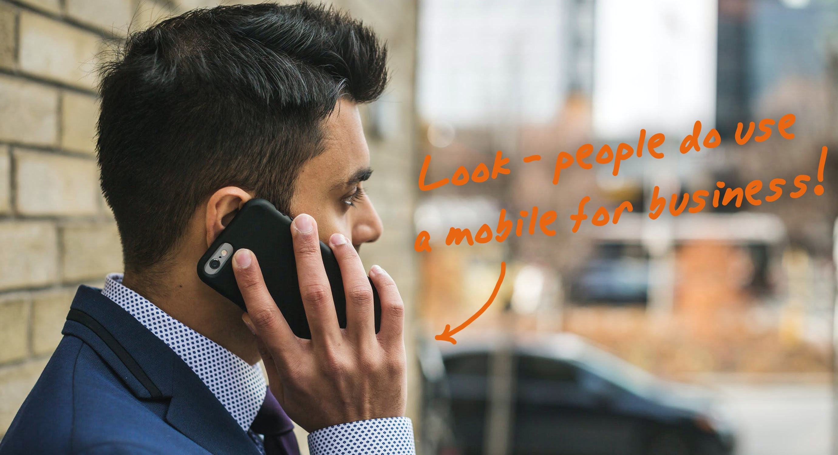 executive on a mobile phone