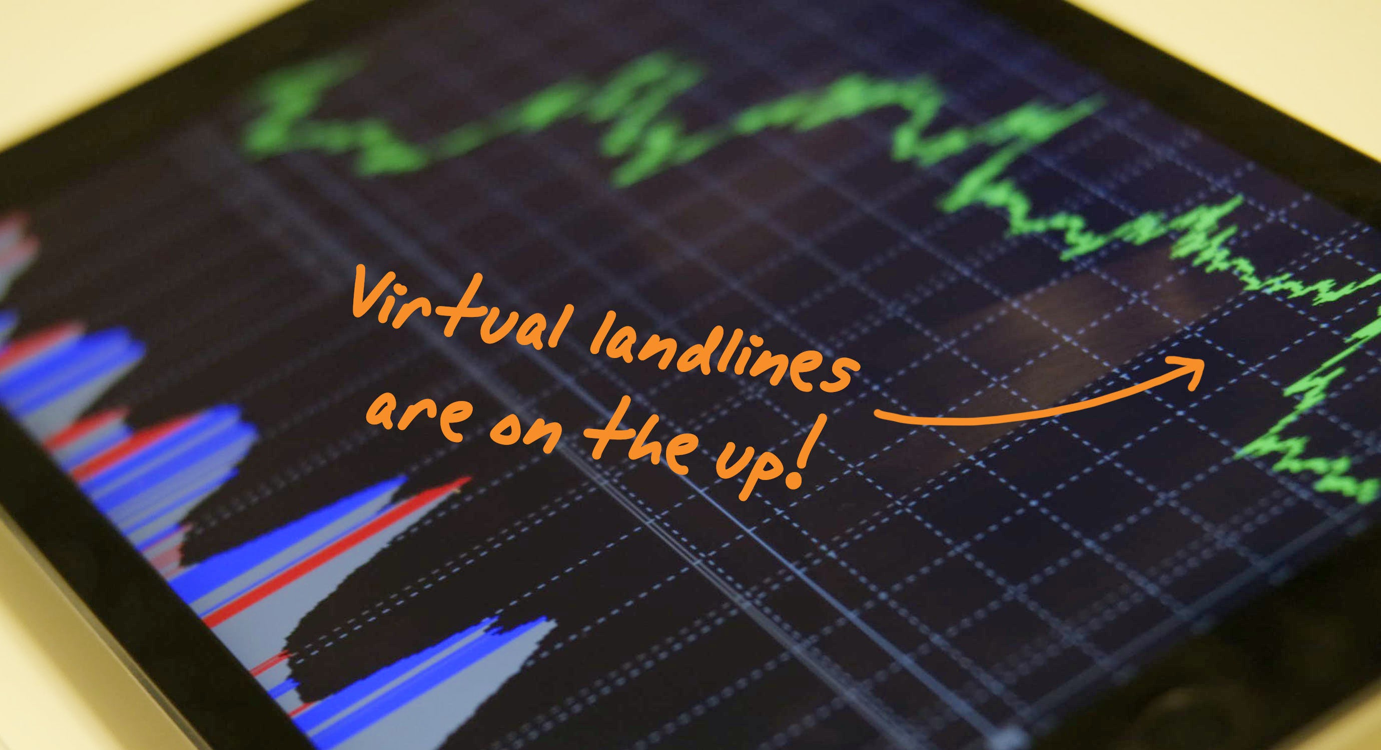 Graph charting the rise of virtual numbers