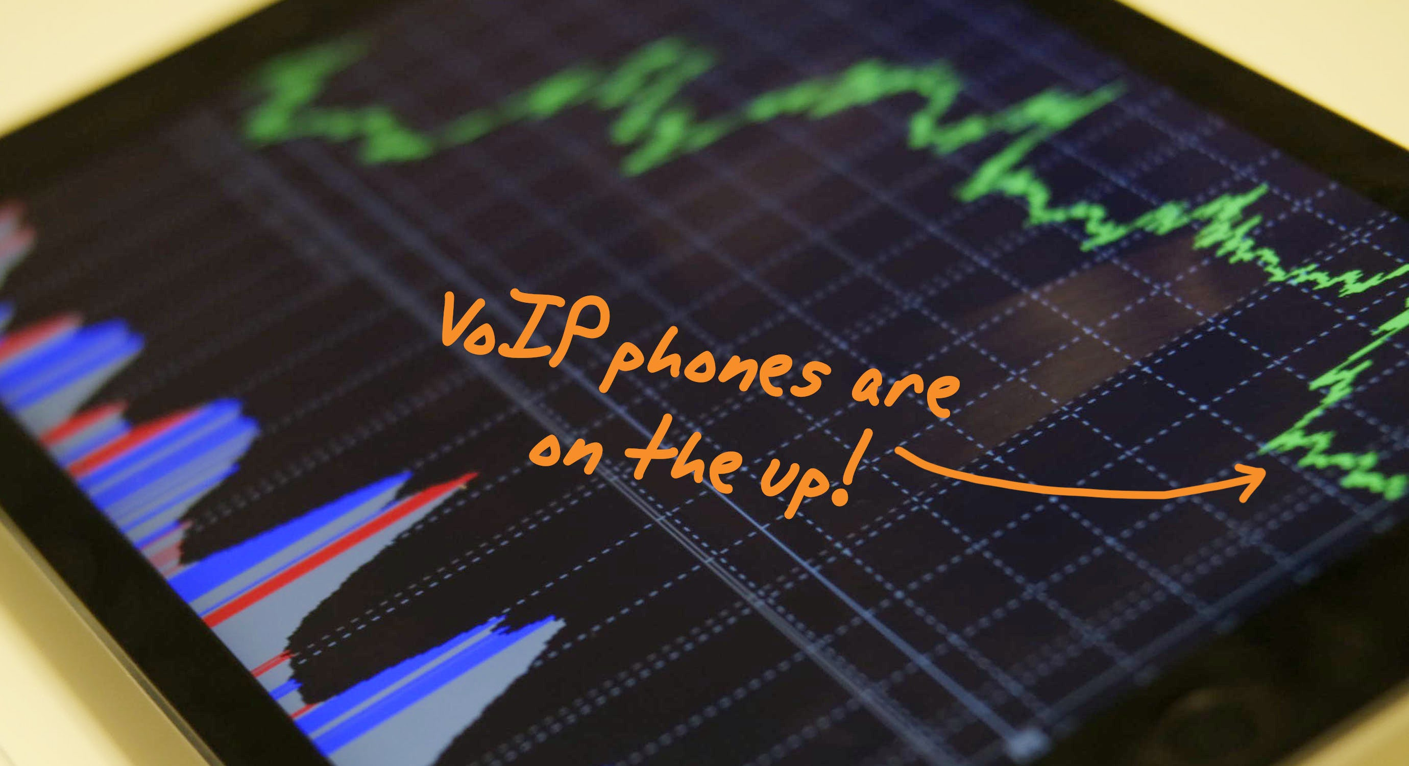 Graph showing upward trend of VoIP systems in the last 10 years