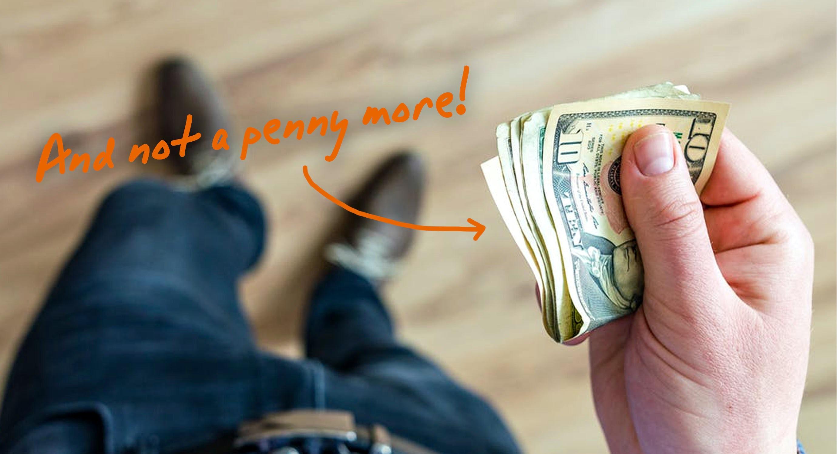 someone holding money